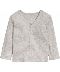 H&M Žebrovaný propínací svetr
