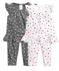 H&M Balení: 2 puntíkovaná pyžama