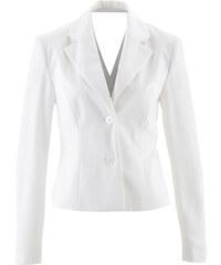 bpc selection premium Blazer avec découpe au dos blanc manches longues femme - bonprix