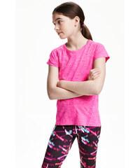 H&M Bezešvé sportovní tričko