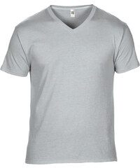 Pánské tričko V-Neck Tee - Stříbrná S