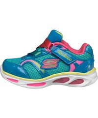 Skechers Girls Lights Blissful Lightwing Trainers Blue/Multi