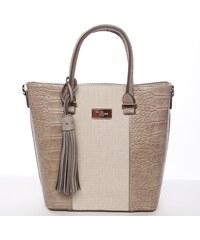 David Jones Luxusní dámská kabelka do ruky Charmaine, béžová