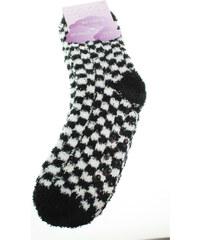 Rejnok Dovoz Ponožky Dětské Soft Socks with ABS dámské ponožky 64167 černá-bílá Rejnok Dovoz