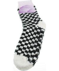 Rejnok Dovoz Ponožky Dětské Soft Socks with ABS dámské ponožky bílá-černá Rejnok Dovoz