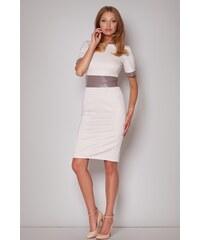 FIGL Dámské šaty M204 beige