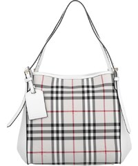 Burberry Sacs portés main, Horseferry Check Small Canterbury Panels Tote Stone/White en beige, blanc