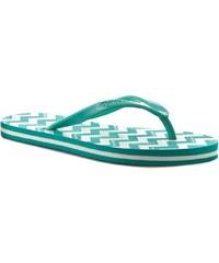Žabky CALVIN KLEIN BLACK LABEL - CK Chevron Flip Flop K9WK001062 Maldive Green/White PC2