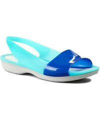 Sandalen CROCS - Colorblock Flat W 200032 Cerulean Blue/Pearl White