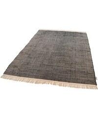 Teppich Cotton Colors handgearbeitet Tom Tailor schwarz 1 (60x120 cm),2 (80x150 cm),3 (140x200 cm),4 (160x230 cm)