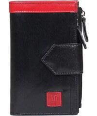 Kabelkový Slon Dámská černá luxusní kožená peněženka 04-1409