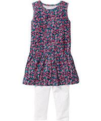 bpc bonprix collection Robe + legging corsaire (Ens. 2 pces.), T. 116-170 blanc sans manches enfant - bonprix