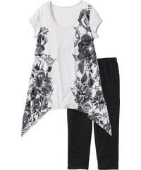 bpc bonprix collection Pyjama corsaire noir manches courtes lingerie - bonprix