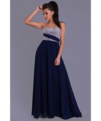 Dámské společenské plesové šaty EVA LOLA tmavě modré