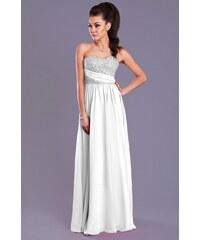 Dámské společenské plesové šaty EVA LOLA bílé