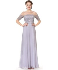 Elegantní Ever Pretty plesové šaty šedé 8459 4cfc296704