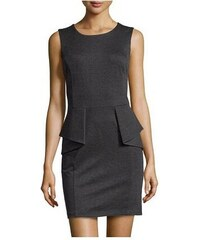 Michael Kors Dámské šaty Ponte Peplum Steath Dress Dark Derby