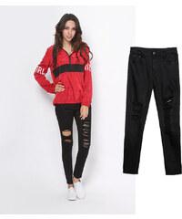 Lesara High Waist-Jeans im Used-Look - 52