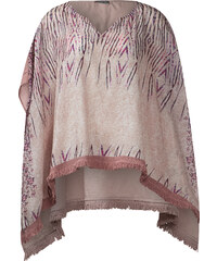 Street One Printponcho mit Seide Amelie - shadow rose, Damen
