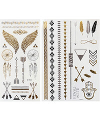 Lesara 2-teiliges Flash-Tattoo-Set Indian Summer
