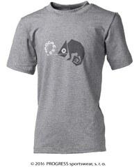 Progress Dětské bambusové tričko chameleon(šedý melír)