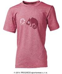 Progress Dětské bambusové tričko chameleon(růžový melír)