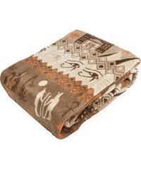 Deka z mikrovlákna RAMZES 150x200 cm hnědá egyptský vzor Essex