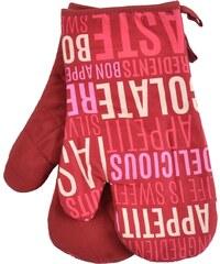 Kuchyňské rukavice chňapky BON APPETIT 18x30 cm, červená, Essex