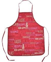 Kuchyňské zástěry BON APPETIT 60x75 cm, červená, Essex
