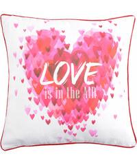 Polštář LOVE IN AIR MyBestHome 40x40cm fototisk srdce Varianta: Povlak na polštář, 40x40 cm