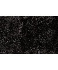 Koupelnová předložka SHAGGY, černá, 50x70 cm, Mybesthome