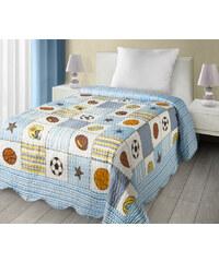 Přehoz na postel BALLS 170x210 cm modrá Mybesthome