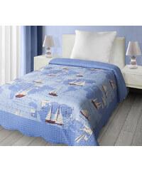Přehoz na postel SAIL 170x210 cm modrá Mybesthome