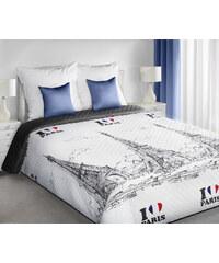 Přehoz na postel JE ADORE PARIS 220x200 cm bílá Mybesthome