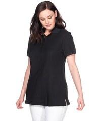 SHEEGO CASUAL Damen Casual BASIC Poloshirt schwarz 40/42,44/46,48/50,52/54,56/58