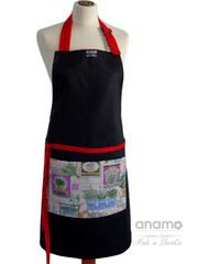 Zástěra Anamo classic černá s bylinkovou kapsou