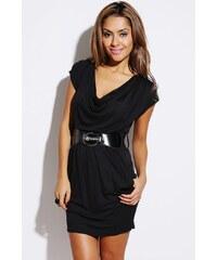 Šaty s páskem černé
