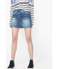 Desigual modrá sukně Ethnic Mini