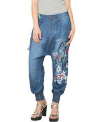 Desigual modré kalhoty Edith