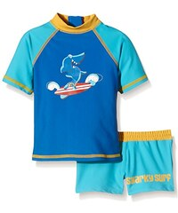 Aquatinto Baby - Jungen Badeshirt und -hose mit Hai-Print, UV +50