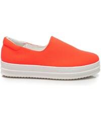 VICES Stylové oranžové nazouvací tenisky