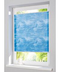 bpc living Store plissé effet délavé, Fixation clipsable bleu maison - bonprix