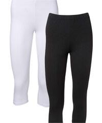 BODYFLIRT Lot de 2 leggings corsaires blanc femme - bonprix