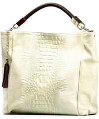 Kožená kabelka Mila béžová