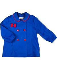 MMDadak Dívčí krátký kabát s mašličkou Kokardki - modrý