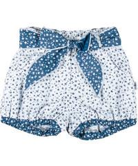 MMDadak Dívčí květované šortky Pomněky - modro-bílé
