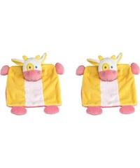 Les Bébés d Elysea Potache La Vache - Lot de 2 doudous - tricolore