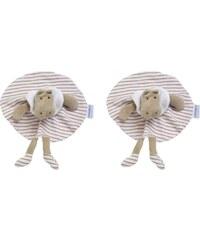 Les Bébés d Elysea Bodoudou Potame - Lot de 2 doudous - rose