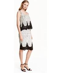 H&M Pouzdrová sukně s krajkou