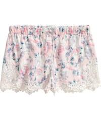H&M Vzorované šortky s krajkou